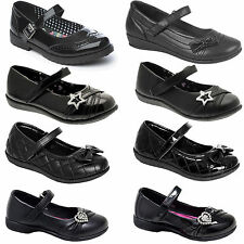 GIRLS CHILDRENS BACK TO SCHOOL SHOES FORMAL CASUAL PARTY WEDDING FANCY FLAT SHOE