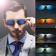 Men Polarized Sunglasses Mirrored Lens Polarised Driving Fishing Glasses