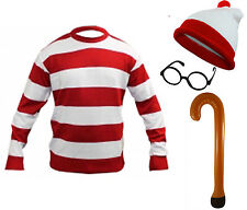 Mens Jumper Red White Theme Party Stag Birthday Book Day Fancy Dress