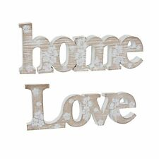 Freestanding Shabby Chic Signs, Home and Love, Wall sign,decor, Wall display.