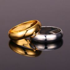 Gold Ring Men Women Gift Wholesale 18k Real GoldPlatinum Plated 5MM Wide Morew