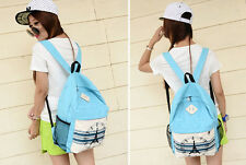 Top New Unisex Girls  Fashion Backpack Korean Canvas Tower Style Schoolbag