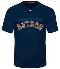 Houston Astros MLB Majestic Mens Lead Off Hitter Shirt Navy Big & Tall Sizes