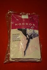 MONDOR FOOTED DANCE TIGHTS + MODEL 345 + WHITE 56 + SIZES 8-10 10-12 12-14 S M L