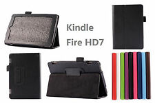 "US SHIP For 2015 Amazon Kindle Fire HD 7"" Folio PU Leather Flip Stand Smart Case"