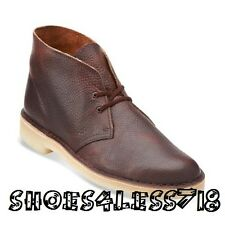 NEW CLARKS OF ENGLAND ORIGINAL RUST BROWN LEATHER DESERT BOOT EXCLUSIVE 112779