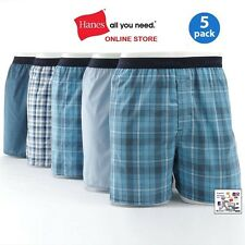 Hanes Men 5 Pair Boxers W/ Comfort Flex® Waistband Comfort Soft Now Even Softer