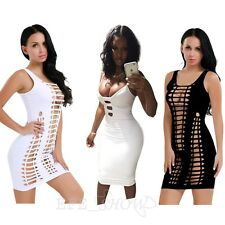 Sexy Women's Sleeveless Bandage Bodycon Evening Party Cocktail Club Mini Dress