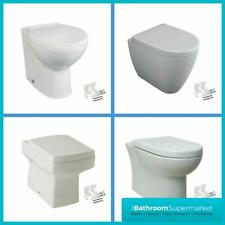 Back To Wall Toilet Pan BTW With Quick Release Soft Close Seat White Ceramic