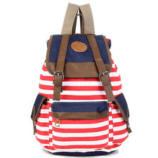 Men Women Rucksack Travel Bag Knapsack Pack School Bag Backpack Canvas Bookbag