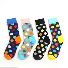 1 Pair Mens Womens Designer Fashion Long Dress Socks Polka Dot Multicolor 6-12