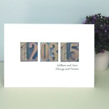 Personalised Letter Press Date Card – Ideal Valentine's Day, Wedding,