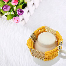 Fashion Jewelry Women Bohemian Charm Beads Bangle Cuff Multilayer Bracelet