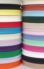 Cotton Bias Binding Tape 16mm / 5/8 inch - 10m lengths - Assorted Colours
