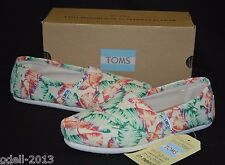 TOMS Classic Multi Burlap Printed Tropical Women Flat Shoes Sz 6.5 7 8 8.5 9 9.5