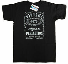 Vintage Aged to Perfection 1976 40th Birthday Present T Shirt 40 Years Old