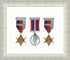 NEW Military War Medal 3D Box Picture Frame Fits 3 Medal- White Mount Made in Uk