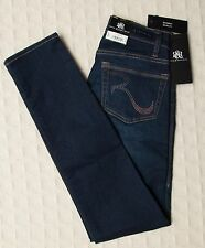 NWT ROCK & REPUBLIC Skinny Jeans Studded SLOW REVEAL Berlin Dark Blue Sz 0 Short