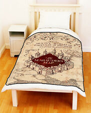 MARAUDERS MAP Magical Doc Harry Potter Bedding Throw Fleece Blanket - Geeky Gift