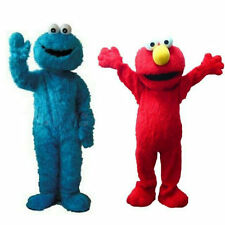 Lovely Elmo Cartoon Fancy Dress Mascot Costume Adult Size Suit Express
