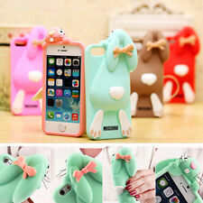 Gift 3D Cute Rabbit Soft Silicone Back Case Cover for apple  iphone 5 5S 6S Plus