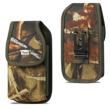 Reiko Camouflage Rugged Canvas Vertical Belt Clip Case for Verizon Cell Phones