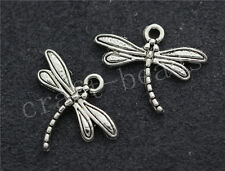 100/500pcs Tibetan Silver small dragonfly Alloy Jewelry Charms Pendant 18x15mm