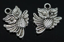 40/240pcs exquisite Tibet silver two-sided owl Charms pendant Craft DIY 20x17mm