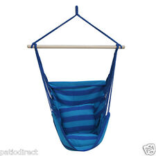 Air Rope Swing Hammock Hanging Outdoor Chair Garden Patio Tree Yard Porch Canvas