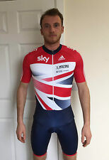 GB OFFICIAL Cycling Skin Suit / Talent Adidas Track Racing Skinsuit SS Mens
