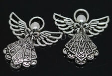 20/100pcs Tibetan Silver Lovely Angel Jewelry Finding Charms Pendant DIY 26x23mm