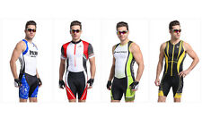 Men's Road Team Racing Cycling Skintight Skin Suit Conjoined Triathlon Coverall