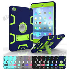 Shockproof Heavy Duty Rubber With Hard Stand Case Cover For iPad 2/3/4 Mini Air
