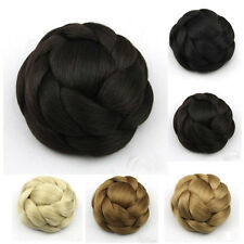 Women Large Hair Buns Synthetic Hair Chignon Clip-In Hairpiece Fast Bun New 36
