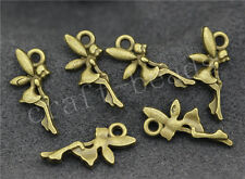80/400pcs Antique Bronze Lovely Elves Angels Swing Craft Charms Pendant 20x9mm