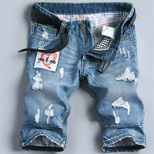New Fashion Men's Jeans Washed Denim Ripped Casual Shorts Pants Size 28-38