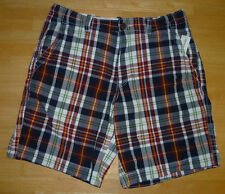 Mens AEROPOSTALE Plaid Flat Front Shorts NWT #7163