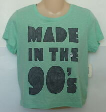 Womens AEROPOSTALE Bethany Mota Made in the '90s Boxy Graphic T NWT #2567-1