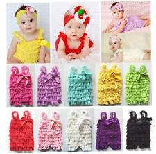Newborn Infant Baby Girls Lace Posh Petti Ruffle Rompers TUTU 0-2T Baby Clothes