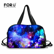 Fashion Space Duffle Bag Canvas Travel Tote Gym/Yoga Mat Bag Weekend Carry On