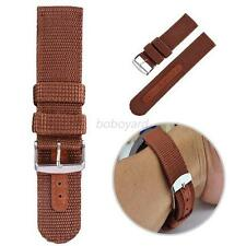 Durable Military Army Canva Wrist Watch Nylon Fabric Band Strap 18/20/22/24mm