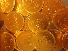 Gold Pirate Milk Chocolate Coins. Various Qty. Party Bag Kids Wedding Stocking