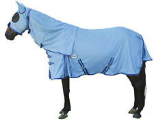 CARIBU ENDURO FLY MESH Attached Hood Horse Rug, Cool Strong 410gsm, BLUE
