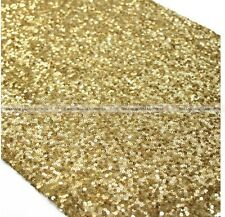 30x275cm Sparkly Gold/Silvery Sequin Glamorous Table Runner for Wedding SM7