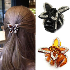 Newly Womens Crystal Rhinestone Butterfly Claw Hairpin Hair Clamp Accessory Clip