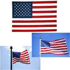New 3x5 4X6 5X8 FT USA US U.S. American Nylon Flag Sewn Stripes Stars Gromm A2K4