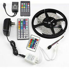 RGB 5M 3528 SMD 300Leds Non-Waterproof LED Strip Light /Controller /Power Supply