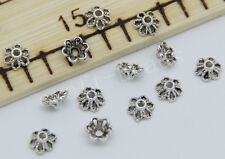 200/1000pcs Tibetan Silver Flower Bead Caps Jewelry Charms Beads Cap 6x3mm