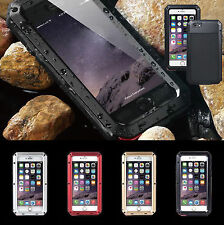 Aluminum Shockproof Gorilla Glass Metal Heavy Duty Case Cover For iPhone/Samsung