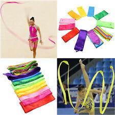 4M Coloful Dance Ribbon Gym Rhythmic Art Gymnastic Ballet Streamer Twirling Rod